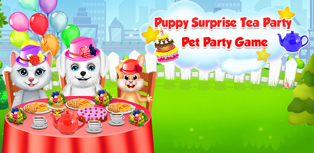 Puppy Surprise Tea Party - Pet Party Game
