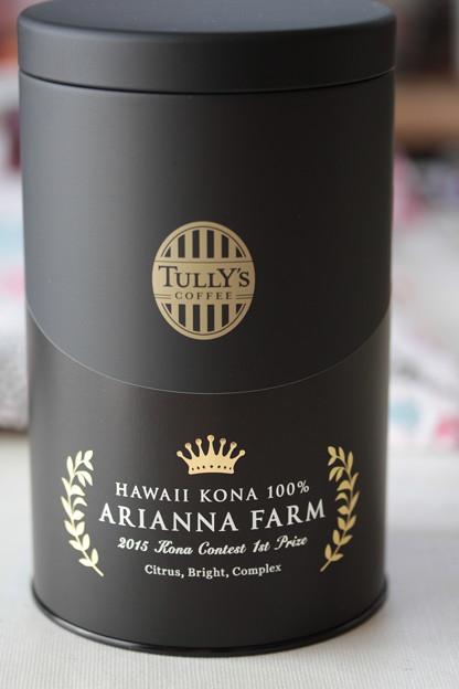 写真: TULLY's CUPPER RESERVE COLLECTION HAWAII KONA 100% ARIANNA FARM キャニスター