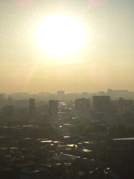 窓越しの朝景…一日の始まり