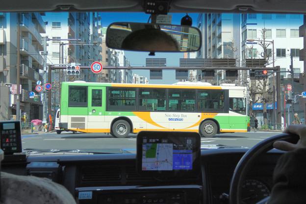 タクシーの車窓から…上富士前
