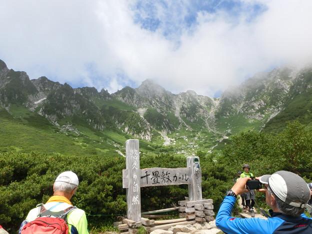 2-119  剣ケ池から千畳敷カール&宝剣岳を望む