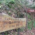 132 富山遊歩道入口に下山しました