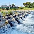 秋晴れの河川敷