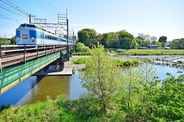 新緑の河川敷(1)