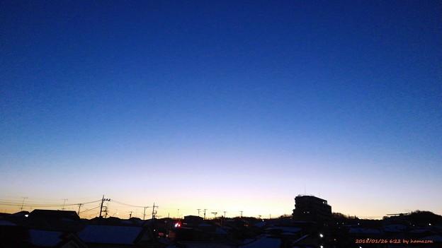 写真: 朝焼け(180126)