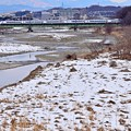 Photos: 残雪の河川敷(1)