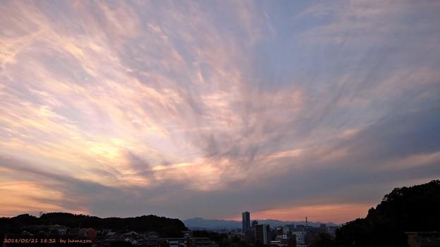 写真: 夕焼け(180521)