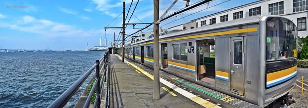 Photos: 海に浮かぶ秘境駅