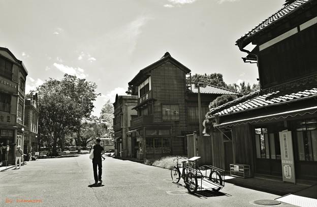 リヤカーのある街