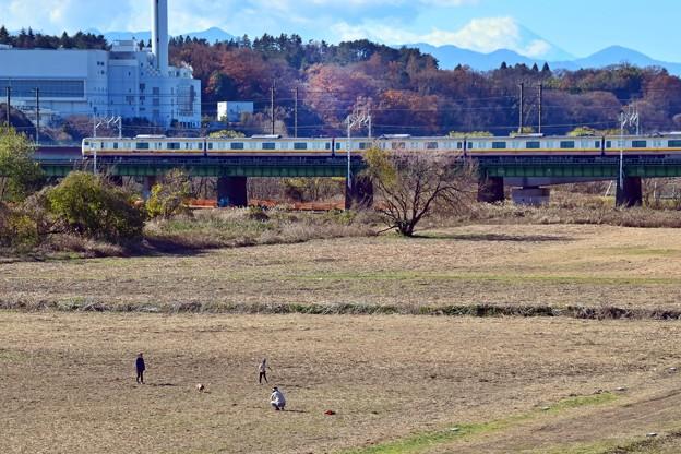 師走の河川敷