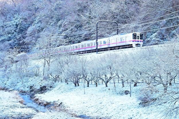 高尾雪景色