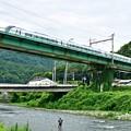 Photos: 梅雨空の鮎釣り