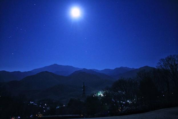 写真: 年明けの月
