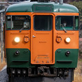 Photos: 吾妻線528M 115系湘南色T1036編成面縦@祖母島駅