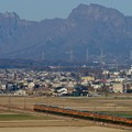 Photos: 妙義山を背に115系湘南色が走る!