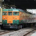 写真: 高崎115系T1022編成~定期運行最後の回送列車@高崎駅