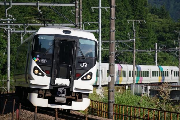 写真: E257系特急かいじ@初狩カーブ