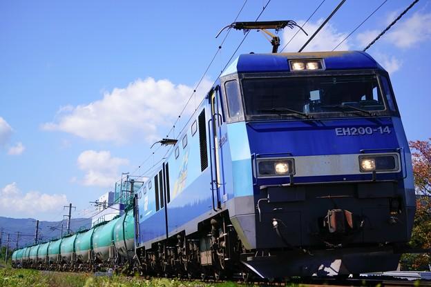 EH200-14+タキ@下諏訪インカーブ