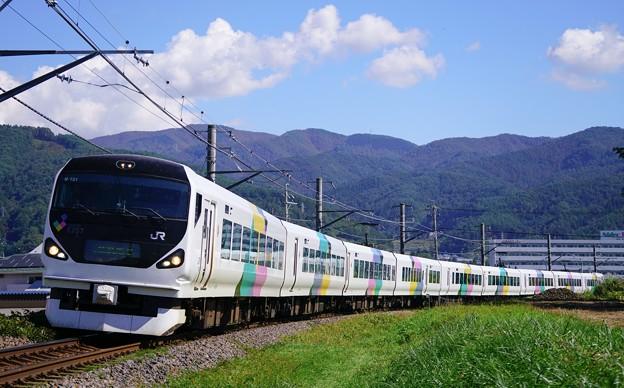 E257系特急あずさ@下諏訪~岡谷