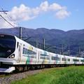 写真: E257系特急あずさ@下諏訪~岡谷
