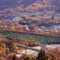 Photos: E233系@新桂川橋梁俯瞰