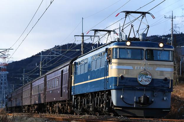 ELぐんまよこかわ EF65-501+旧客6B+D51498@西松井田