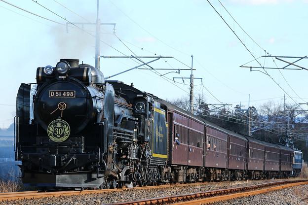 SLぐんまよこかわ D51-498+旧客6B+EF65-501@西松井田