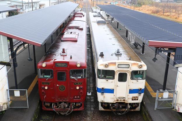 キハ47形 観光列車いさぶろうしんぺい&普通列車@吉松駅
