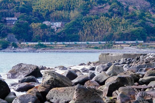 185系特急踊り子@伊豆稲取~今井浜海岸4