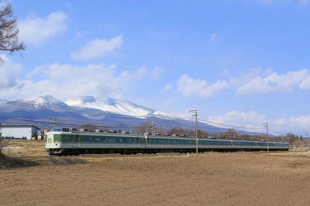 Photos: ありがとう189系 N102編成ラストラン@浅間山バック