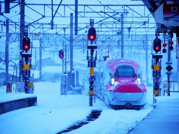 雪のE6系
