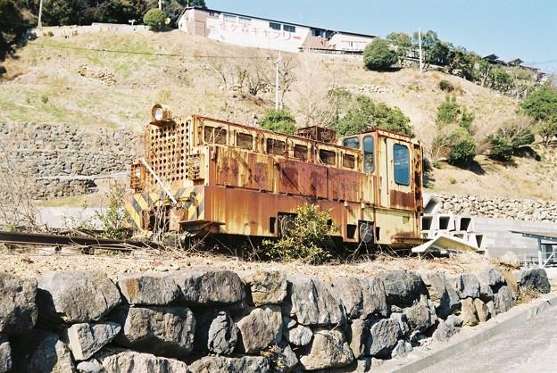 白木谷鉱山の機関車