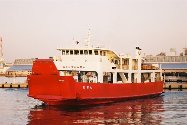 ドック代船運航の「めおん」(2)
