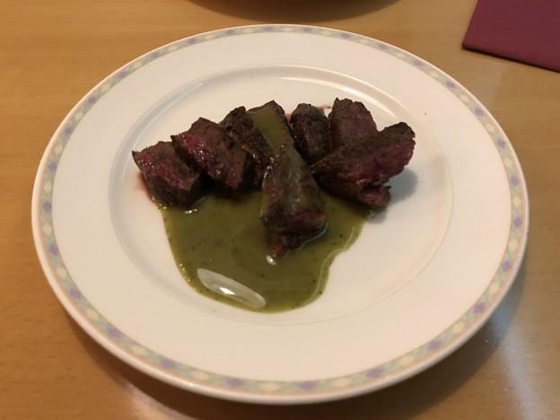ソーニョのステーキフェアの牛肉のミディアム