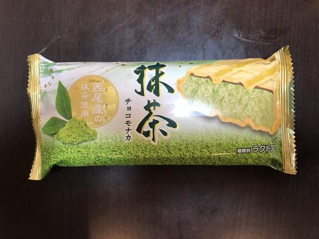 Photos: 森永乳業のラクトアイスの抹茶チョコモナカ