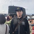 Photos: 海上自衛隊の帽子を被っているシーン
