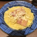 Photos: 鎌倉パスタの鎌倉ベーコンとイタリア産ペコリーノのカルボナーラ山椒の香り