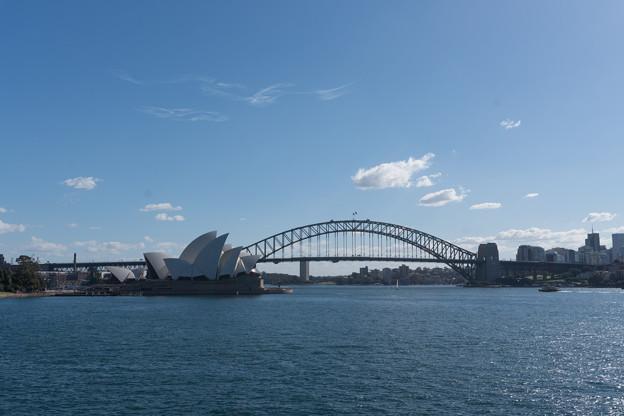 シドニー観光(ミセスマッコリーズポイントから見たハーバーブリッジ)