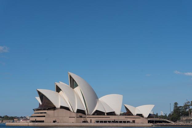 シドニー観光(ドーズポイントパーク)【オペラハウスの横顔】