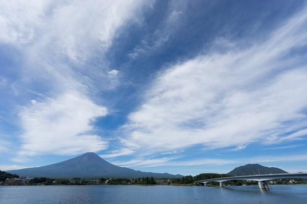 富士五湖巡り【河口湖から見る富士】1
