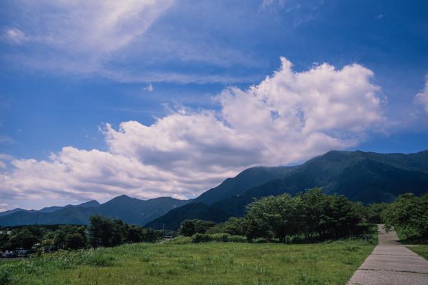 富士五湖巡り【朝霧高原の道の駅:富士と反対方向の光景】