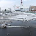写真: 雪山を崩して ショッピングモール