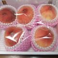 頂いた山梨の桃