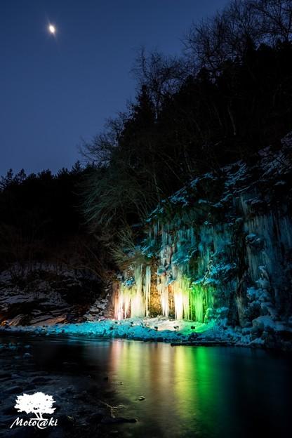 月下の氷景