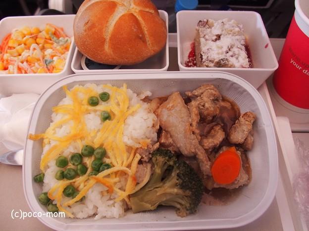 スイスエアライン 食事 P1010464