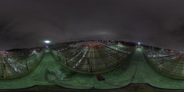 長津田操車場をThetaSで360°撮影してみる