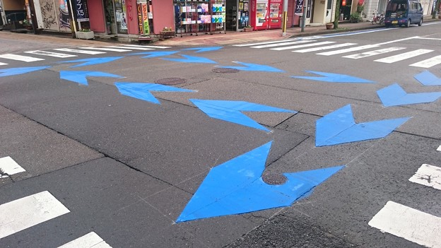 Photos: 宮崎市、新たに中心市街地に自転車レーンを整備中5