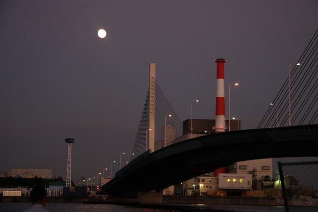 かもめ大橋の満月