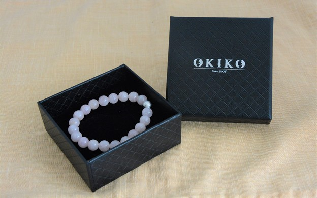 KSB881-Matte Rose Quartz(10MM)-Rose Quartz-Box