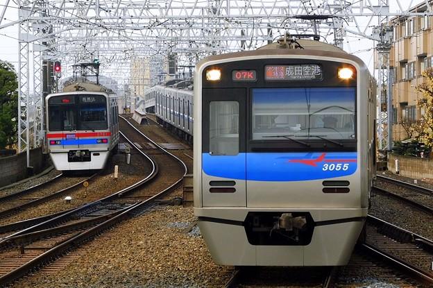 アクセス特急KS42成田空港(807K)3050形3055F